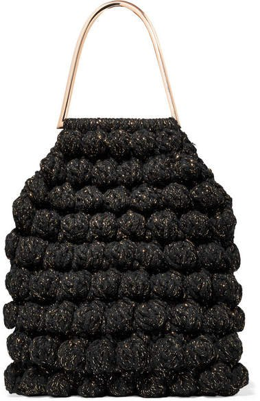 Barranco Crocheted Cotton And Lurex-blend Tote - Black