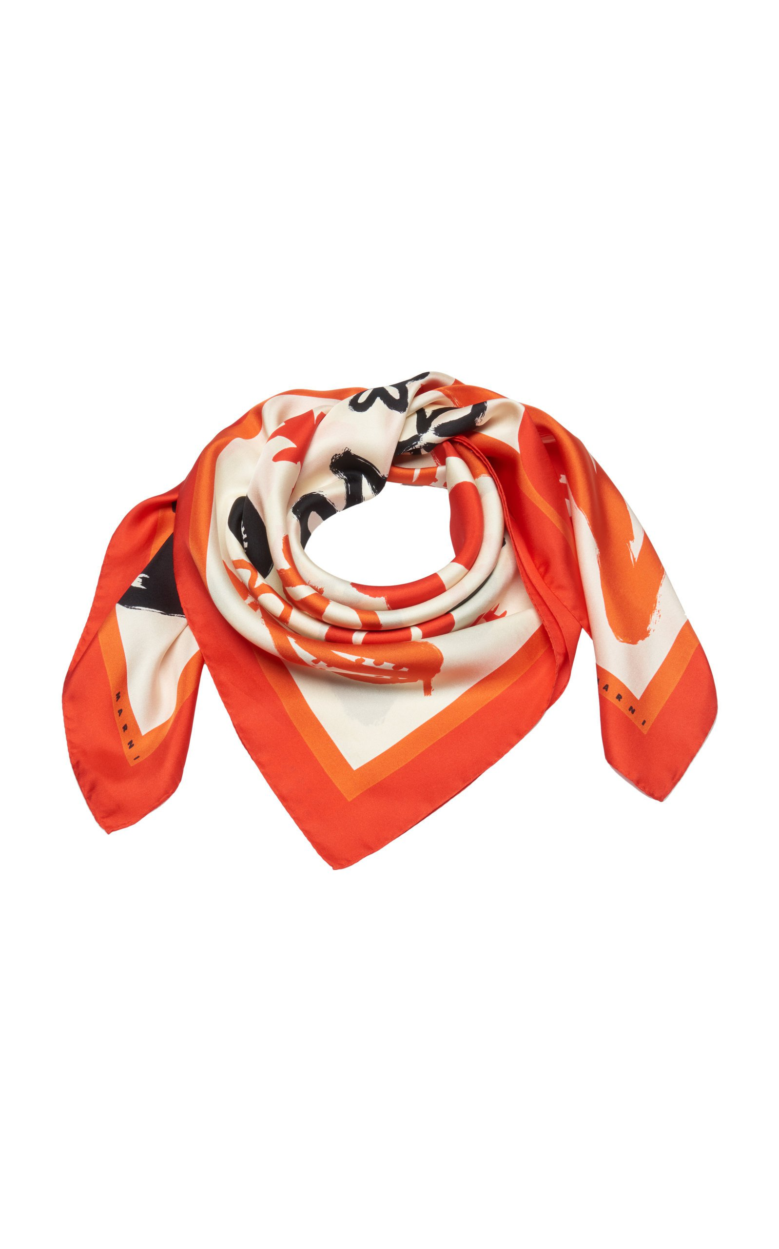 Marni Abstract Print Silk Scarf