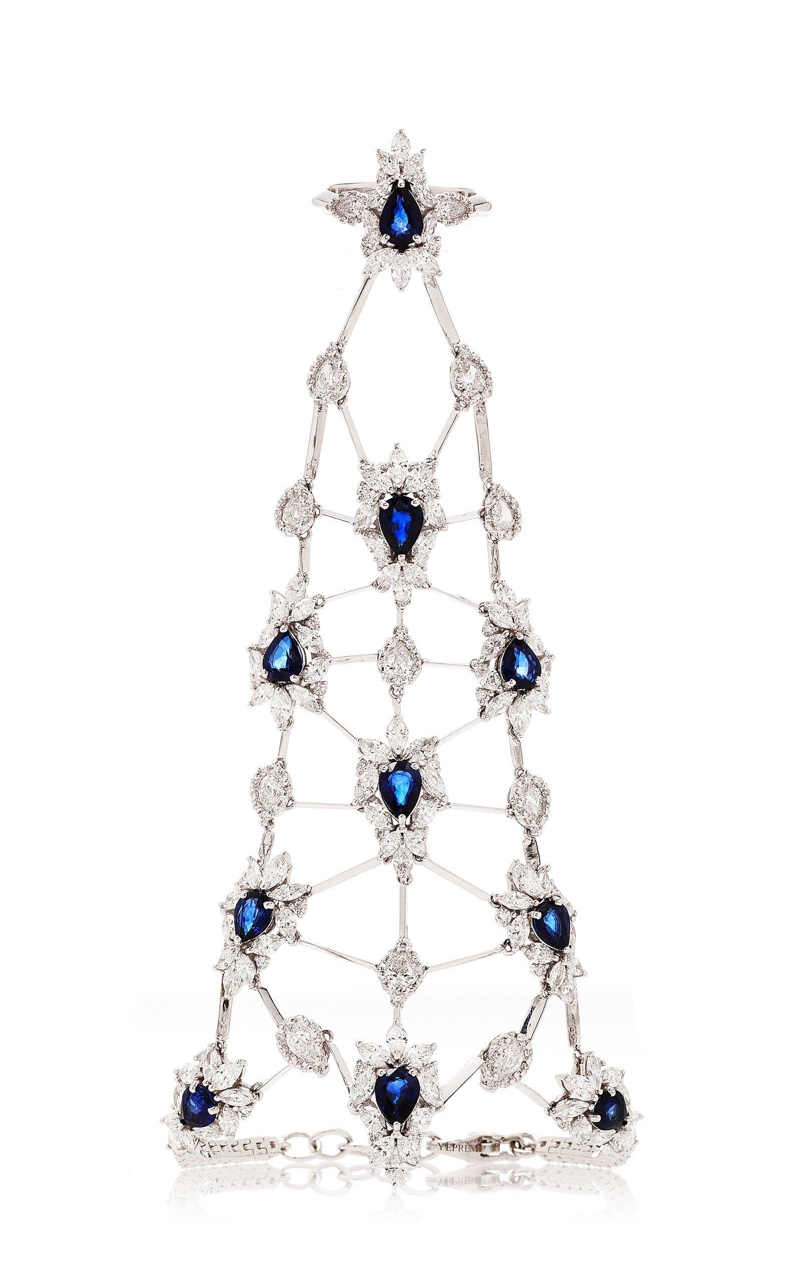 Diamond And Sapphire Ring And Bracelet Chain by Yeprem | Moda Operandi