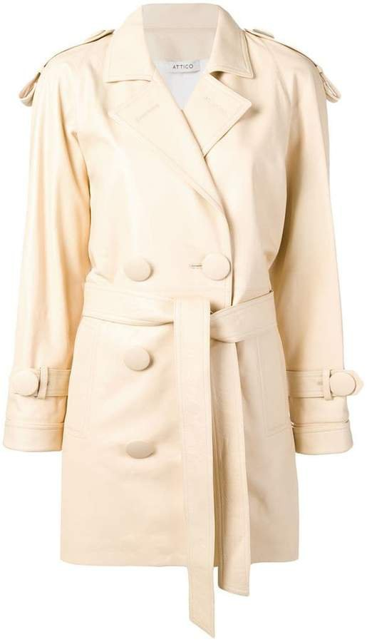 oversized button trench coat