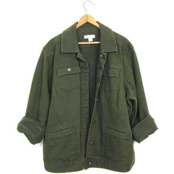 Vintage Army Green Jean Jacket