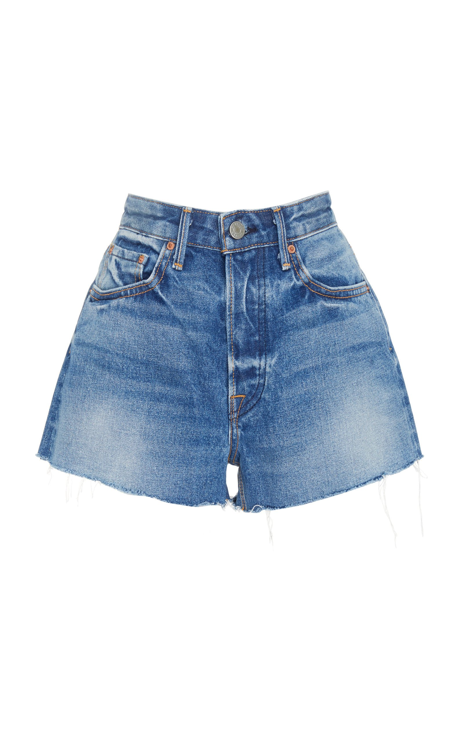 GRLFRND Denim Cindy Distressed Denim Shorts