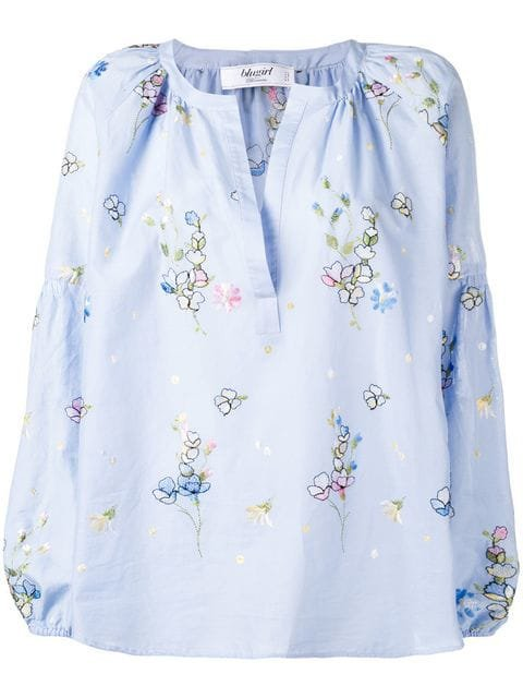 Blugirl Embroidered Floral Blouse - Farfetch