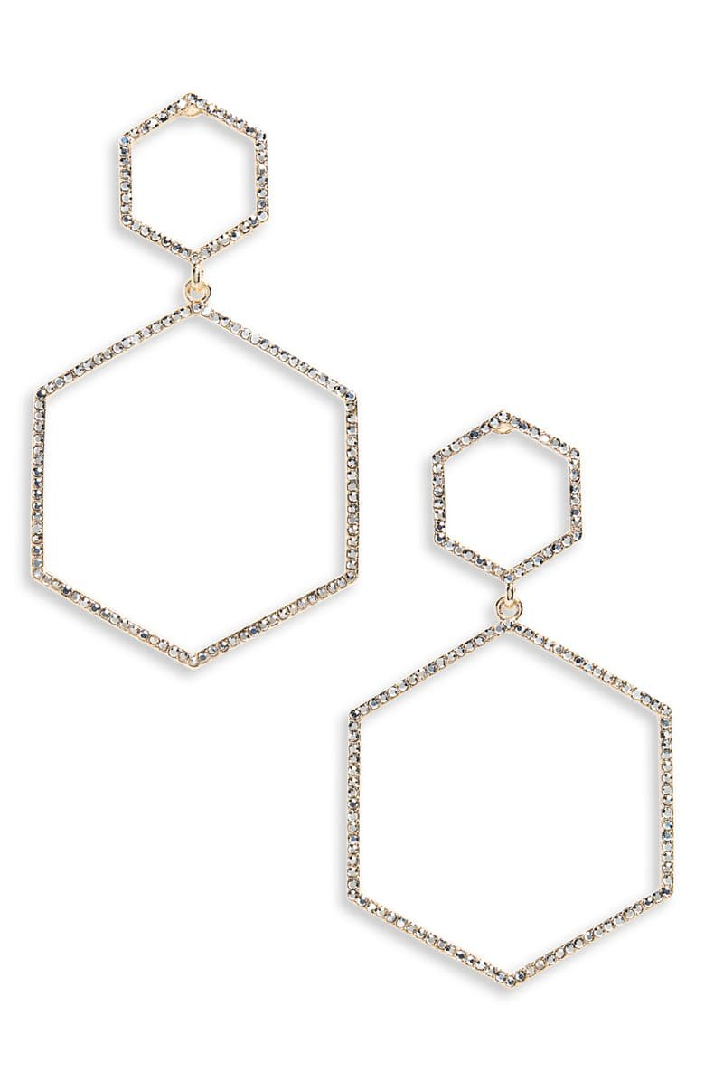 Panacea Crystal Hexagon Earrings | Nordstrom