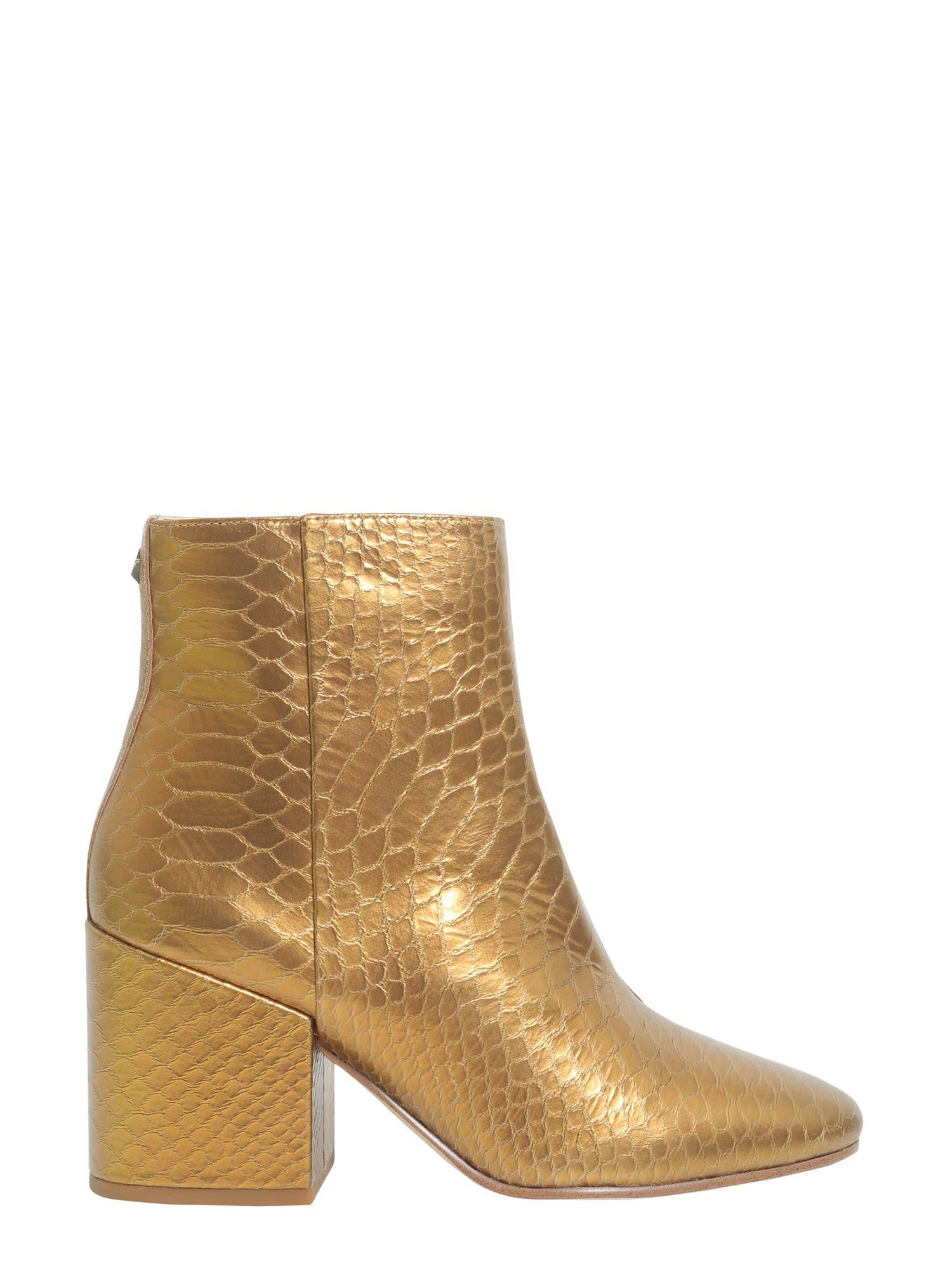 Sam Edelman Snake Printed Ankle Boots