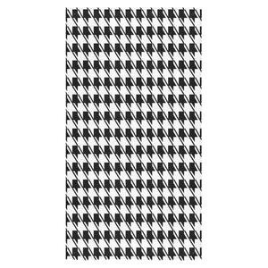 "Black White Houndstooth Bath Towel 30""x56"" – Rockin Docks Deluxephotos"