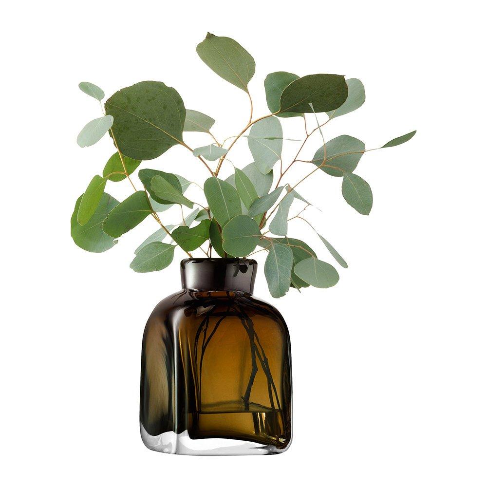 LSA International Taffeta Vase - Moss Green