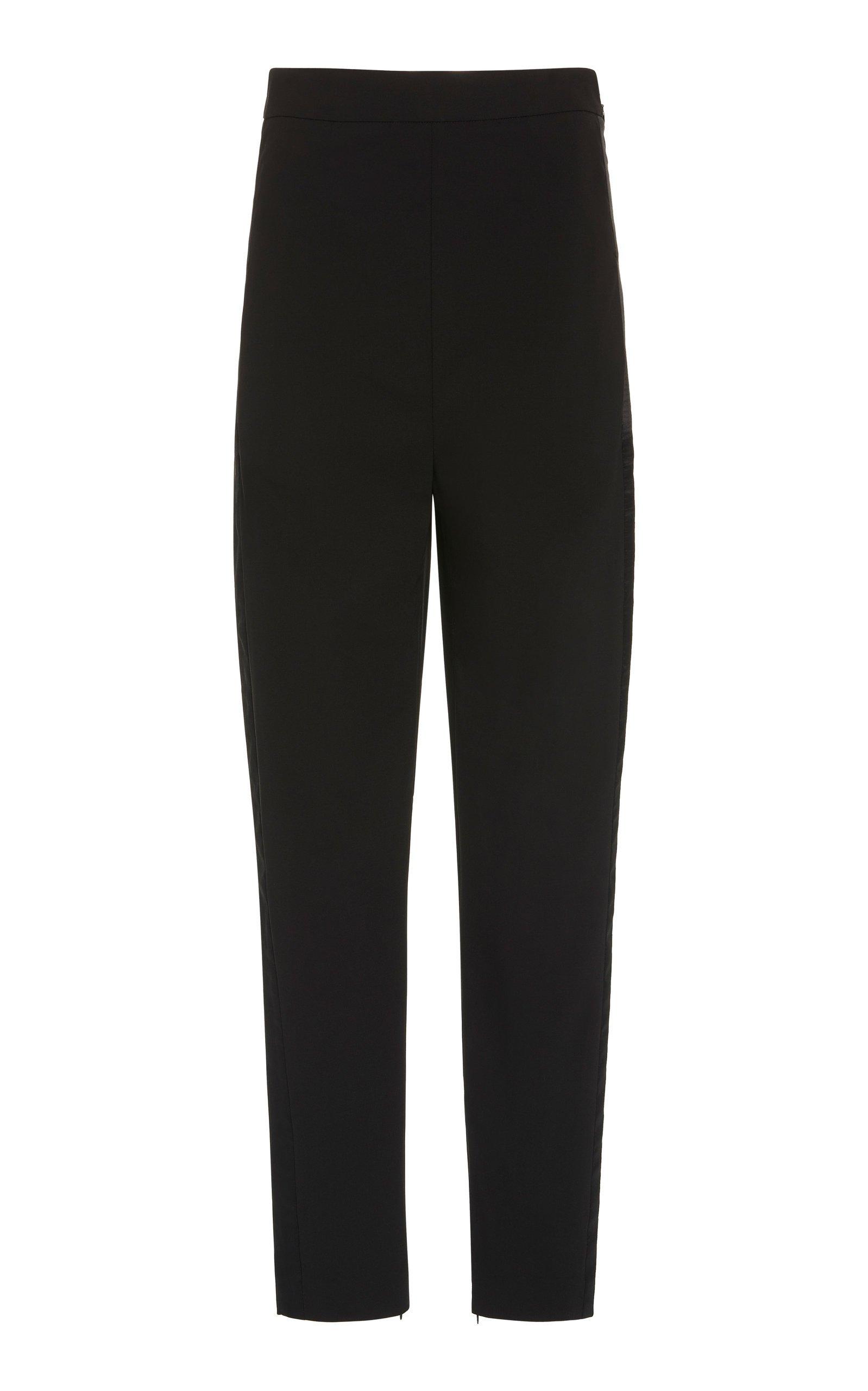 SemSem High-Waist Crepe Straight-Leg Pants