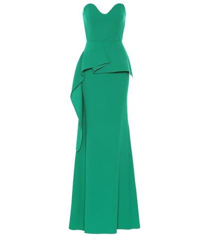 Bond wool crêpe gown