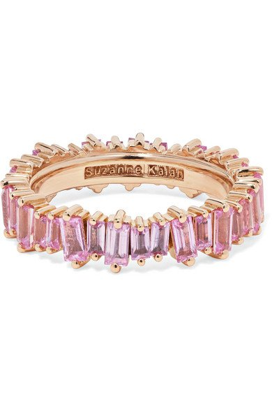 Suzanne Kalan | 18-karat rose gold sapphire ring | NET-A-PORTER.COM