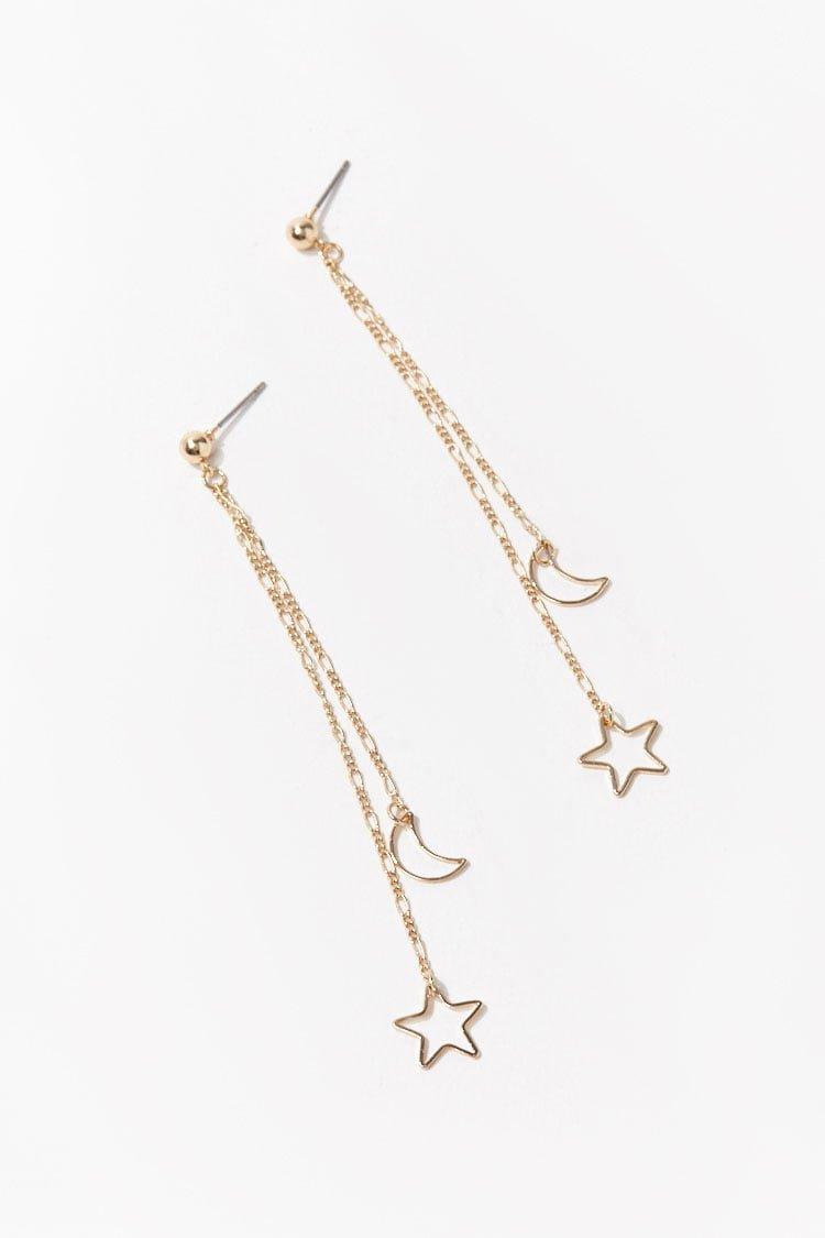 Moon & Star Duster Earrings   Forever 21