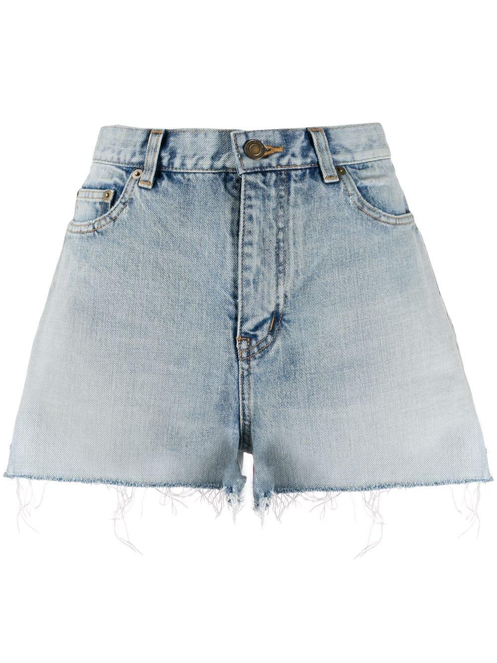 Saint Laurent unfinished hem denim shorts - Buy Online AW19 - Quick Shipping, Price