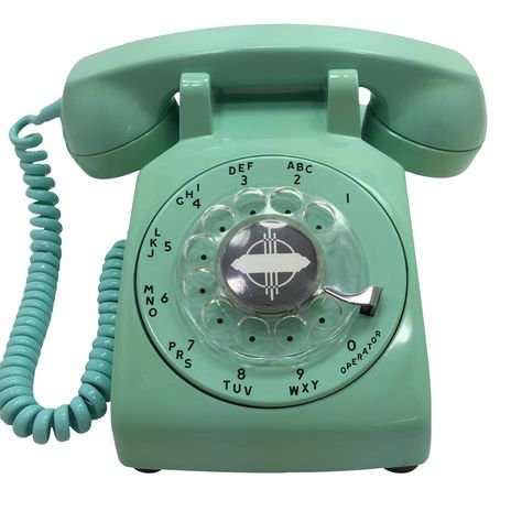 mint green retro telephone png filler aesthetic