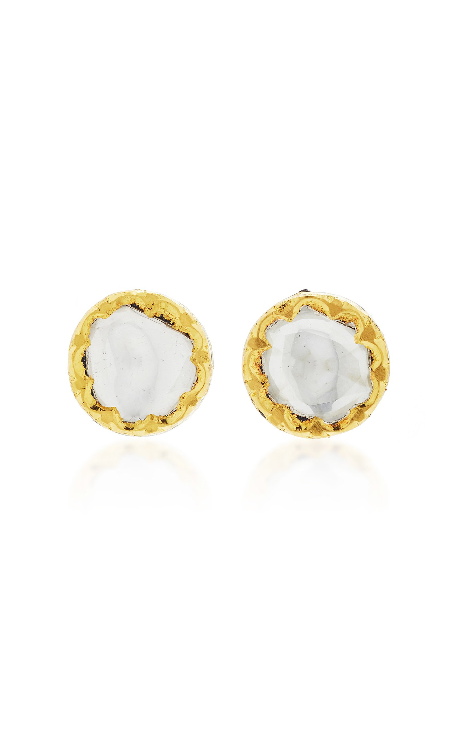 Sanjay Kasliwal Raj 22k Gold and Diamond Earrings