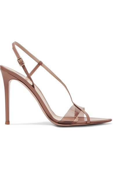 Gianvito Rossi | 105 leather and PVC sandals | NET-A-PORTER.COM