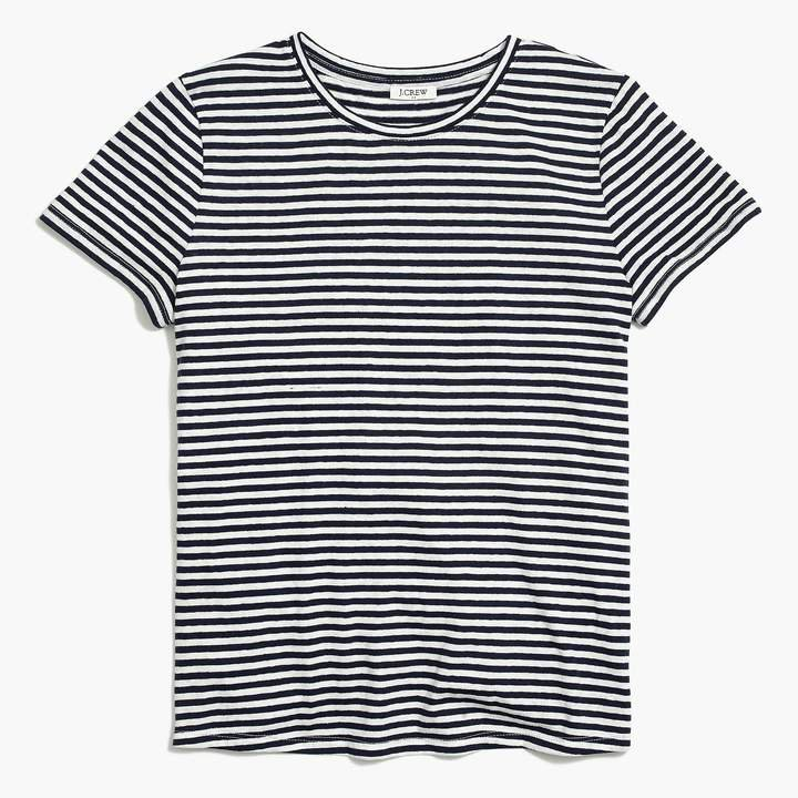 Striped tie-back T-shirt