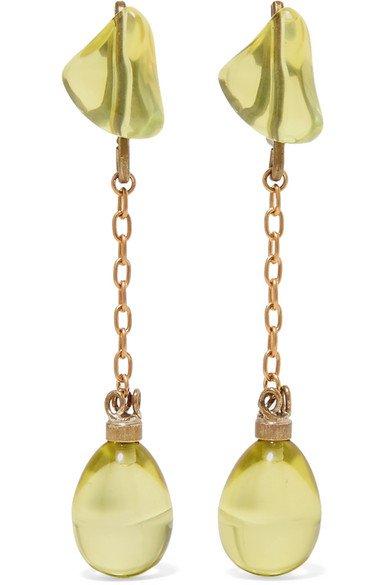 Marni | Gold-tone and resin earrings | NET-A-PORTER.COM