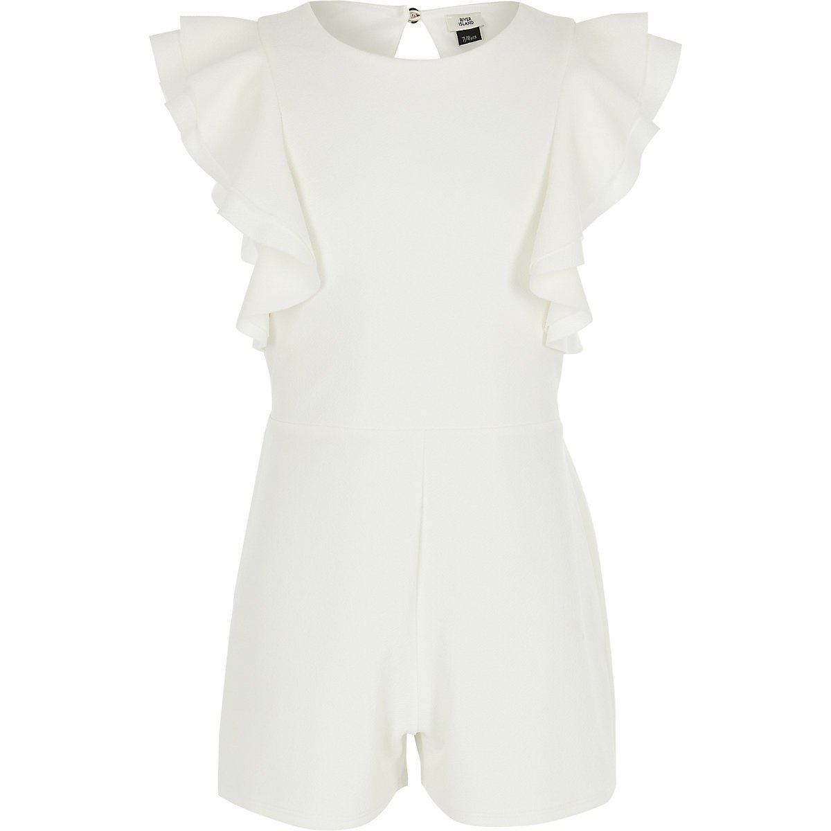 Girls white ruffle romper - Rompers - Rompers & Jumpsuits - girls
