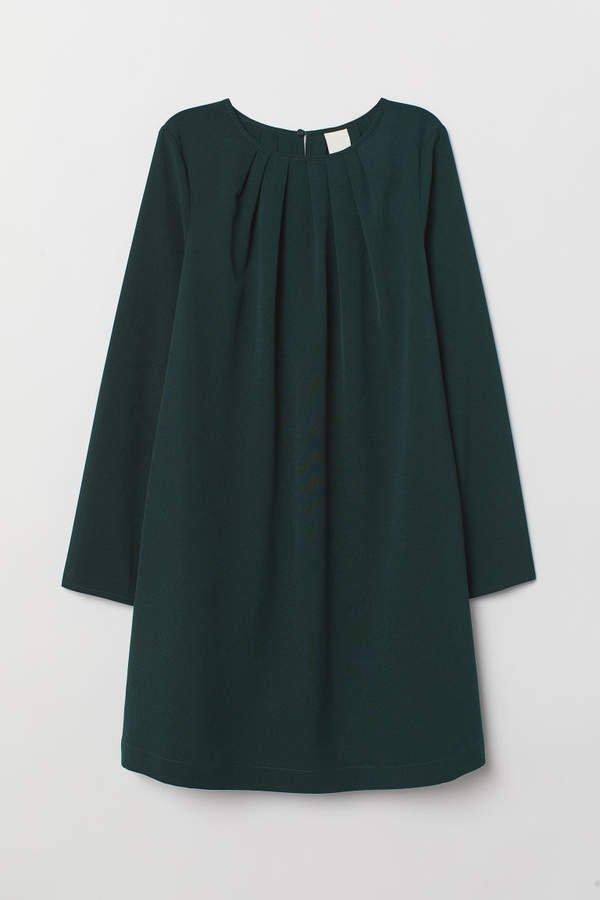 Long-sleeved Dress - Green