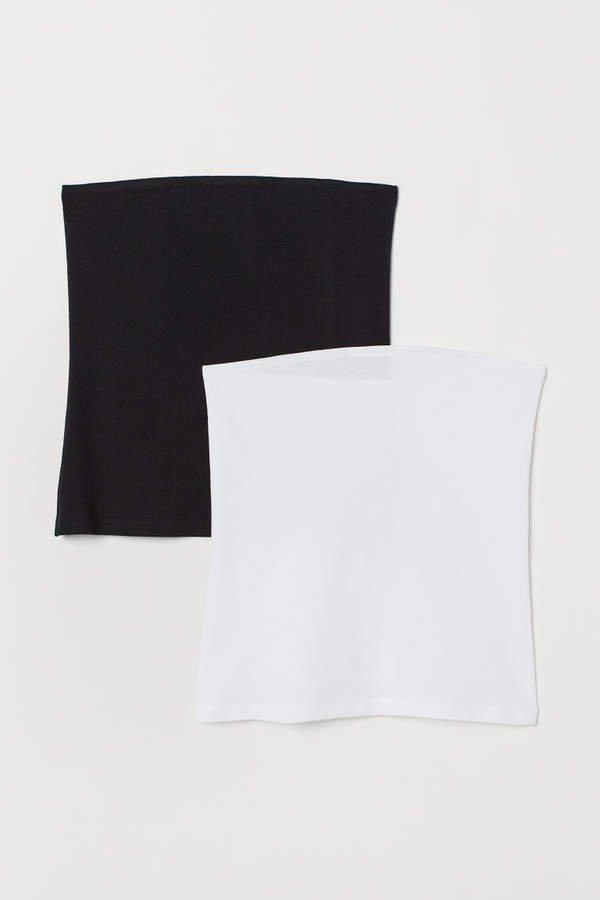 2-pack Cotton Tube Tops - Black