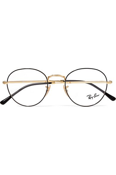 Ray-Ban | Round-frame acetate and gold-tone optical glasses | NET-A-PORTER.COM