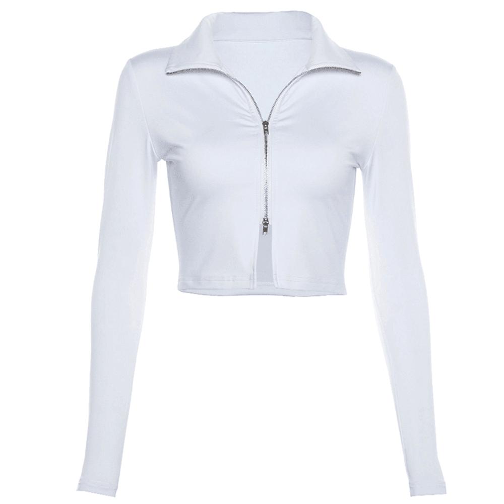 JESSICABUURMAN – POLDA Long Sleeves Cropped Top