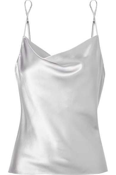 Fleur Du Mal   Draped silk-charmeuse camisole   NET-A-PORTER.COM