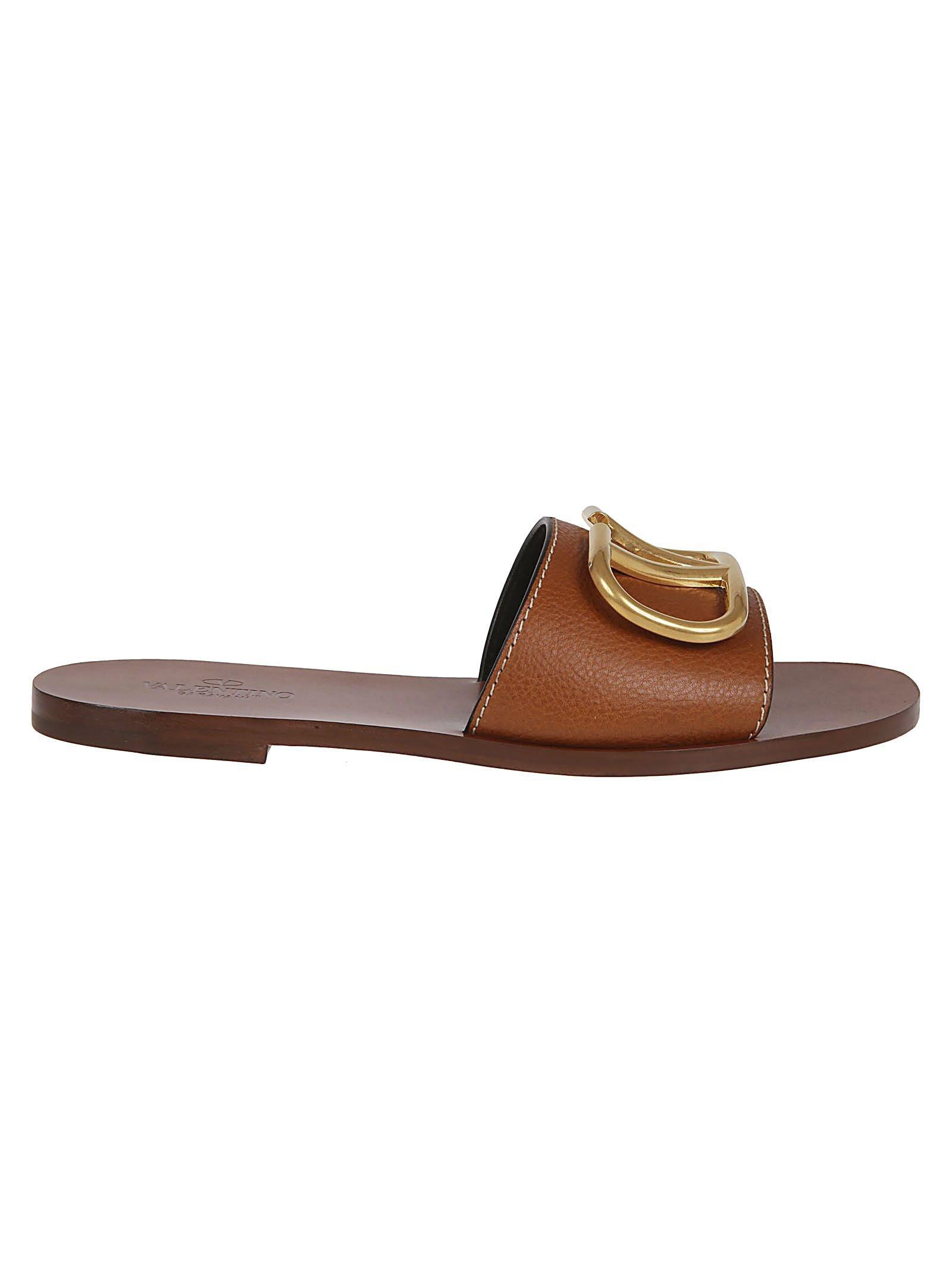 Valentino Garavani Go Logo Flat Sandals