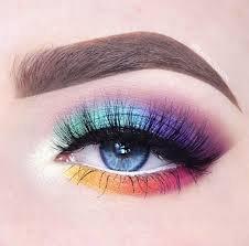 rainbow eye look - Google Search