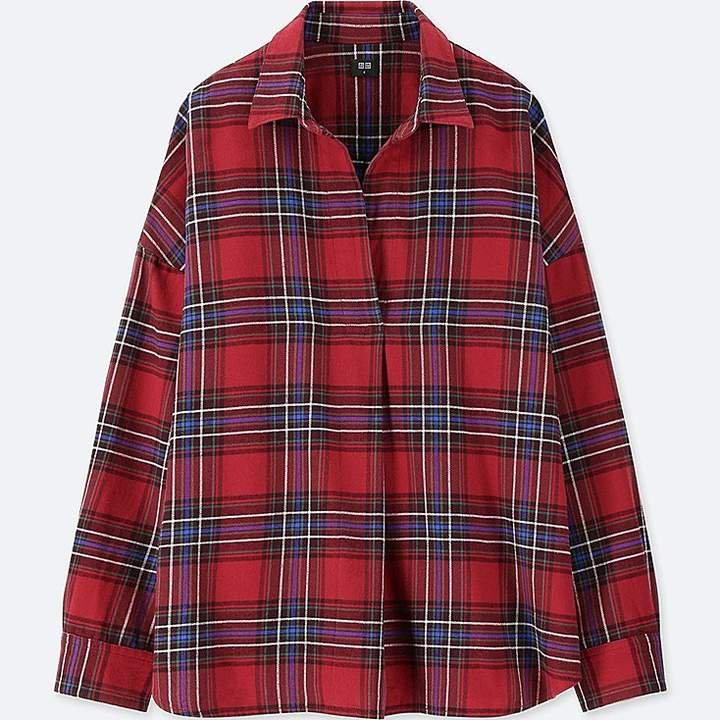 Women's Flannel Checked Skipper Long-sleeve Shirt