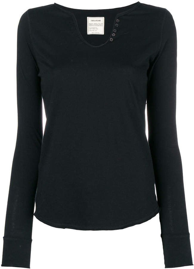 Zadig&Voltaire longsleeved buttoned T-shirt