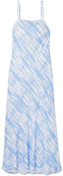 July Tie-dyed Twill Dress - Sky blue