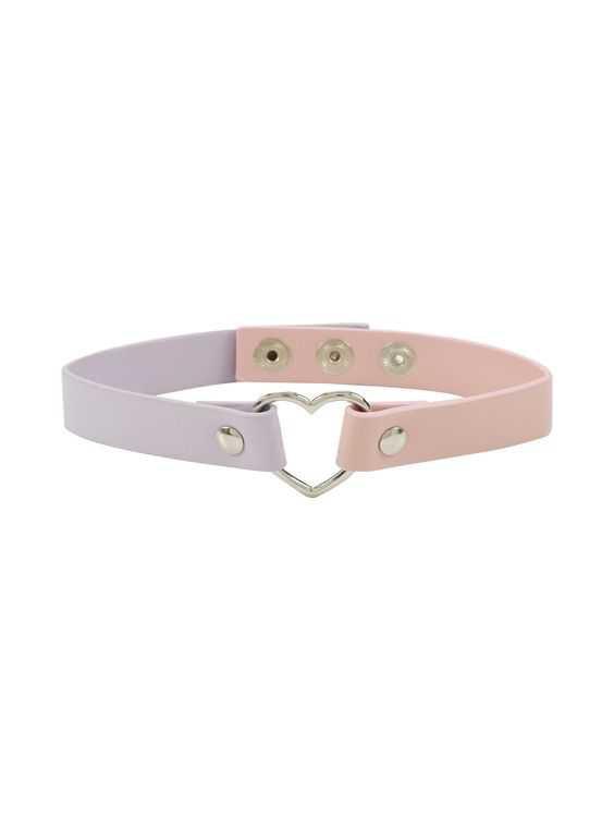 Blackheart Pink and Lavender Choker