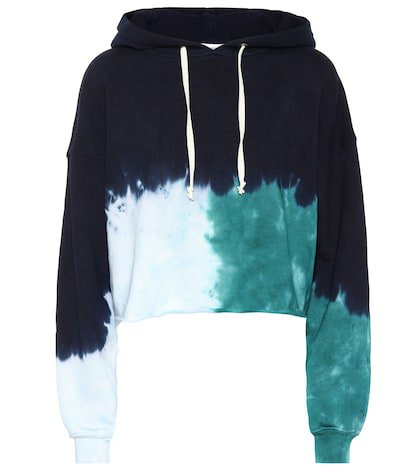 Tie-dye cotton hoodie