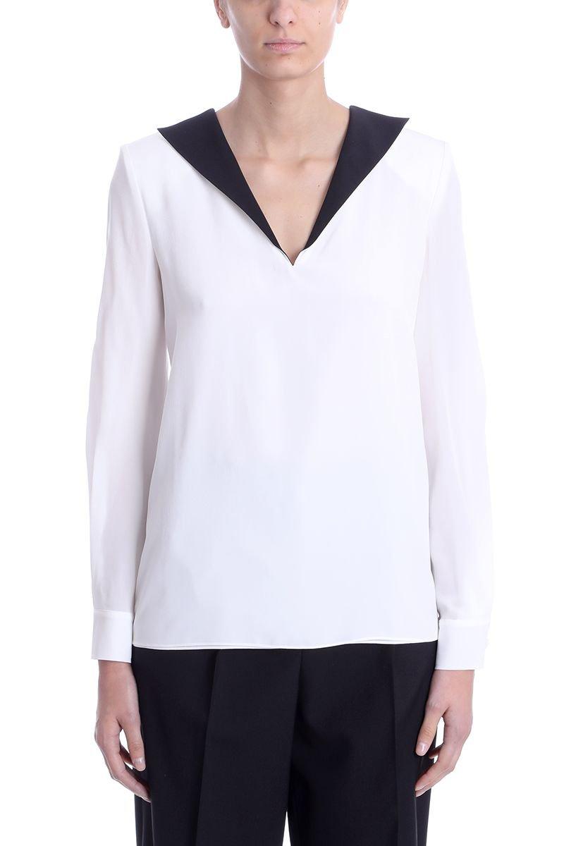 Givenchy V-neck Long Sleeves Blouse