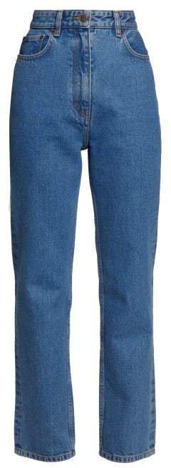 Charlee High Rise Straight Leg Jeans - Womens - Blue