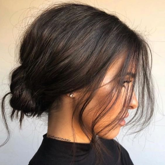 Low Messy Bun Hair