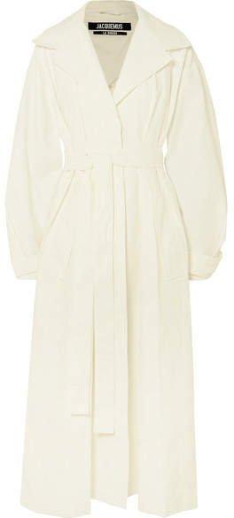 Claudia Linen Trench Coat - White