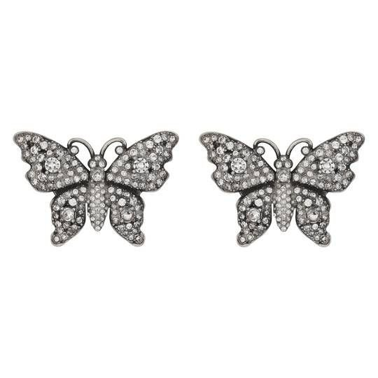 Crystal studded butterfly earrings - Gucci For Women
