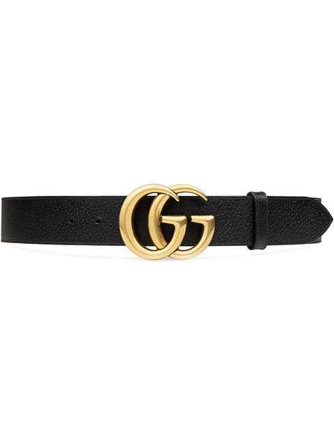 Gucci Leather Belt with Double G Buckle $450 - Buy AW18 Online - Fast Global Delivery, Price