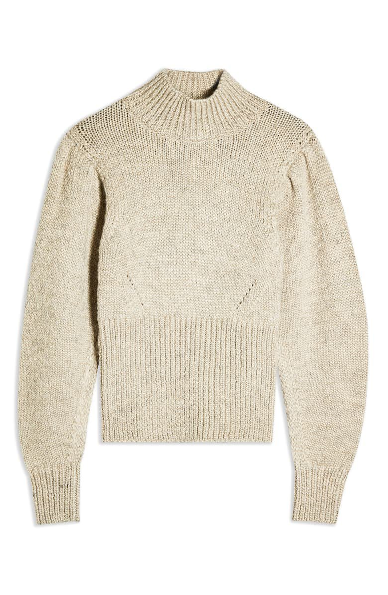 Topshop Banana Sleeve Funnel Neck Sweater | Nordstrom