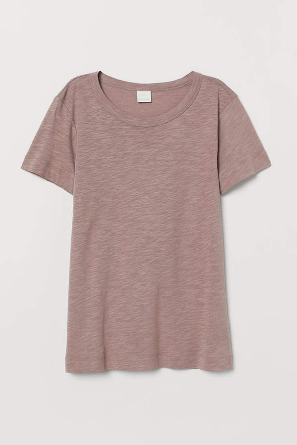 Slub Jersey T-shirt - Brown
