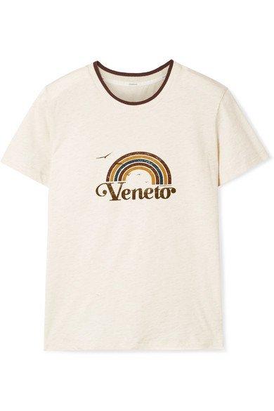 Zimmermann | Veneto printed slub cotton-jersey T-shirt | NET-A-PORTER.COM