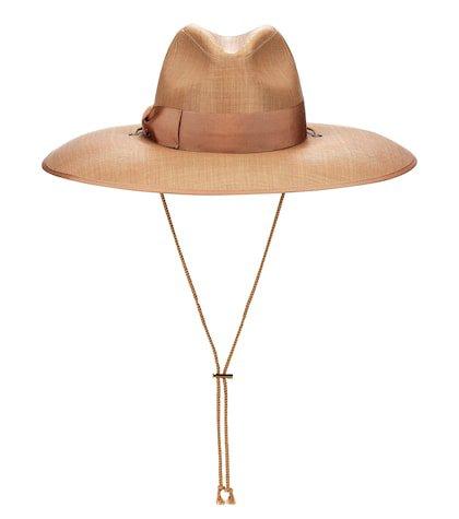 Wide-brim woven hat