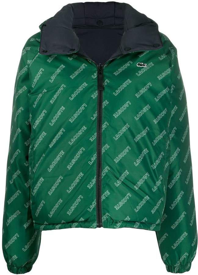 LIVE logo puffer reversible jacket