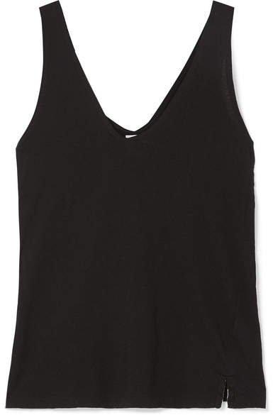 Organic Cotton-jersey Tank - Black