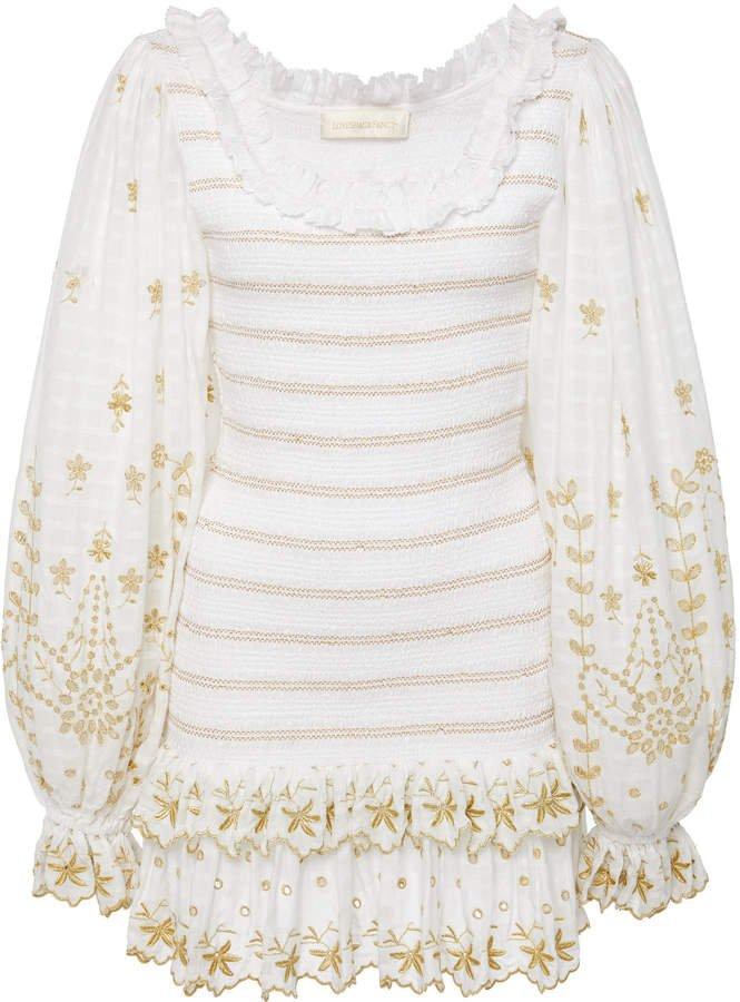 Celia Smocked Mini Dress