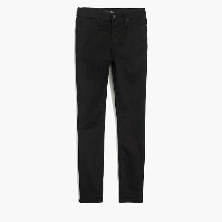 "10"" highest-rise curvy skinny jean in black denim"