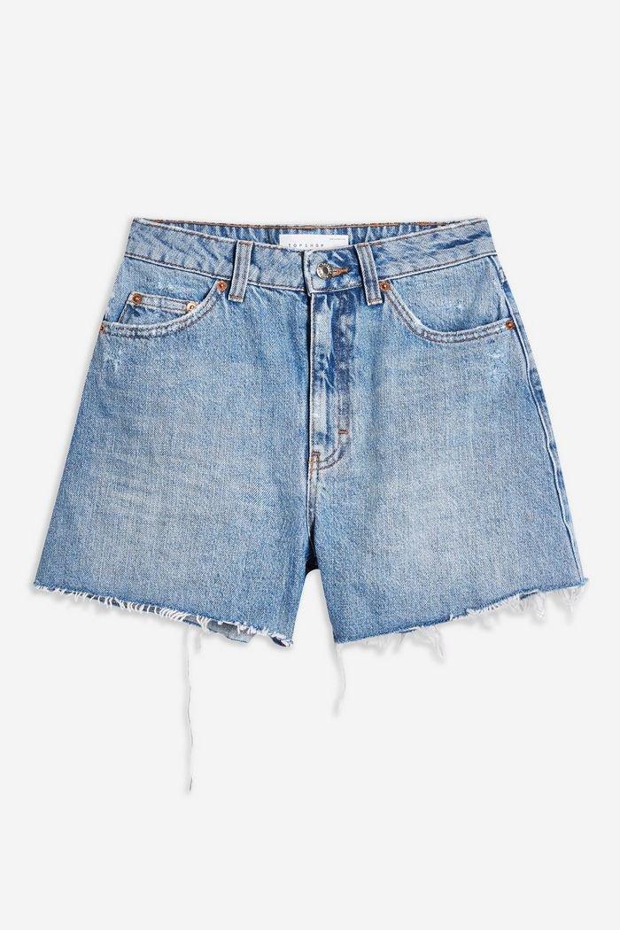 Blue High Waisted Denim Shorts | Topshop blue