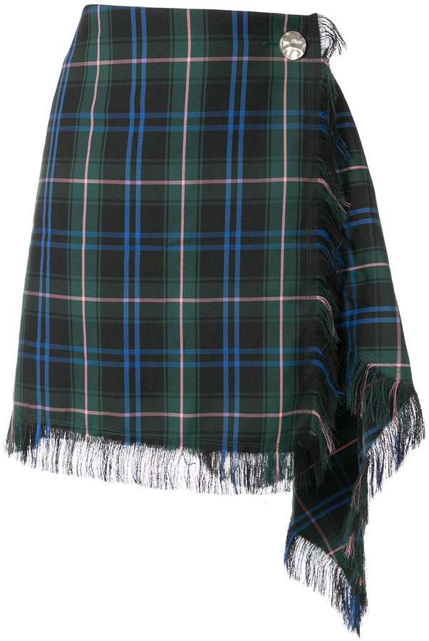 PortsPURE checked asymmetric skirt